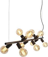 Scandinavian Pendant Lamp 10 Black - Facil Tube
