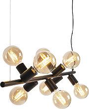 Scandinavian Pendant Lamp 8 Black - Facil Tube