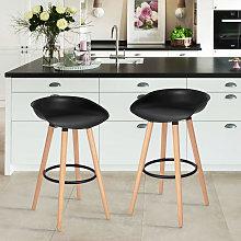 Scandinavian Set of 2 Bar Stool Chair Counter High