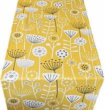 Scandinavian Style Table Runner. Bold Ochre Yellow