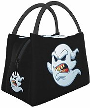 Scare Ghost Cool Halloween Insulated Lunch Bag,