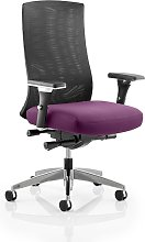 Scarlet Home Office Chair In Purple With Castors