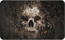 Scary Rusty Rotten Skull Welcome Door Mat Indoor