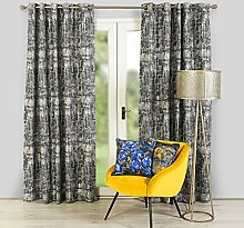 Scatterbox Two Curtain Panels, Navy, W168cm
