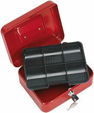 SCB2 Key Lock Cash Box 200 x 160 x 90mm - Sealey