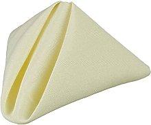 SCDZS 50pcs Polyester Linen Napkins Wedding Table