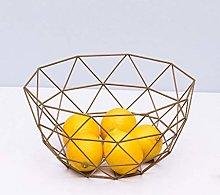 SCDZS Kitchen Fruit Basket,Fruit Dish Metal Wire
