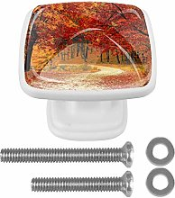 Scenery Autumn Leaves Tree 3D Printed Drawer Knobs