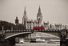 Scenolia London Bus Panoramic Poster Wallpaper 4 x