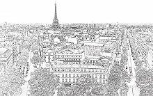 Scenolia Panoramic Poster Wallpaper Paris 4 x 2.70