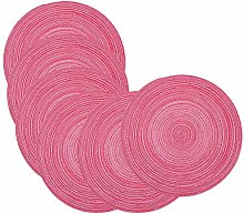 SCF2017 38CM Round Woven Cotton Yarn Placemats