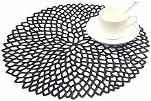 SCF2017 Flower PVC Placemats Hollow Table Mats Set