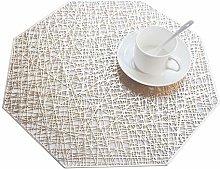 SCF2017 Octagonal PVC Placemats Hollow Table Mats