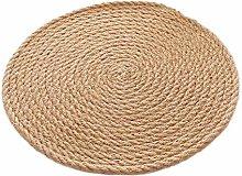 SCF2017 Round Hemp Rope Woven Table Mats 30cm