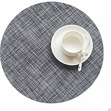 SCF2017 Round Placemats Set of 4 Table Circle Pad