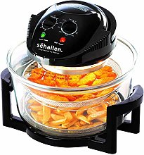 Schallen 17L 2 in 1 Deluxe Black & Glass Air Fryer