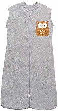 schlabigu Baby Girls' Sleeping Bag grey Owl