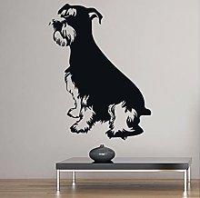 Schnauzer Dog Wall Sticker Animals Pets Shop Kids