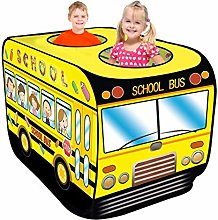 School Bus Pop Up Play Tent, Kids Tents Indoor