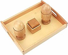 SCHS Unisex Baby Toy Montessori 3D Object Fitting