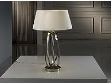 Schuller Ovalos - Table Lamp Polished nickel, E27