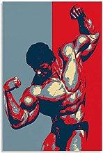Schwarzenegger 1 Canvas Art Poster and Wall Art