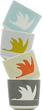Scion 4-Piece Colin Crane Egg Cup, Porcelain,