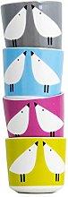 Scion 4-Piece Lintu Egg Cup, Porcelain,
