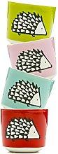 Scion 4-Piece Spike Egg Cup, Porcelain,