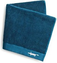 Scion Mr Fox Embroidered Bath Towel, Lake