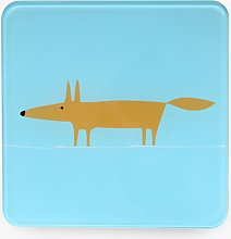Scion Mr Fox Tempered Glass Trivet, Blue