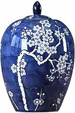 SCJ Ceramic Blue And White Porcelain Jar Vase
