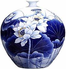 SCJ Ceramic Vase Hand-painted Blue And White