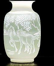 SCJ Ceramics Vase Ceramic vase Thin Embossed White