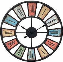 SCJ Large Art Deco Wall Clock, 50CM/20Inch XL Big