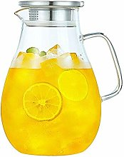 SCJ Water pitcher, glass pitcher with lid, water