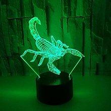Scorpion 3D Night Light Led Optical Illusion Lamp,