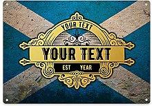 Scotland Flag Bar Sign - Personalised Home Bar
