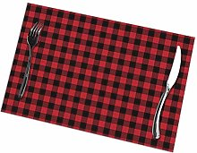 Scotland Plaid Pride Red Themed 6 Piece Set of