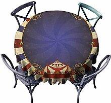 ScottDecor decorative Round tablecloth Tassel
