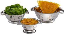 Scotti 3 Piece Stainless Steel Colander Set Symple