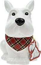 Scottie Dog Cookie Jar - White