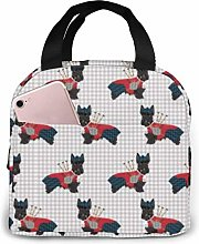 Scottie Dog with Bagpipes Lunch Bag Reusable