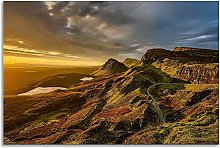 Scottish Landscape Yellow Horizon Hills Canvas