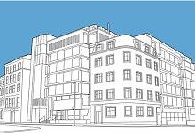 Scottish Provident Building Graphic Art on Canvas