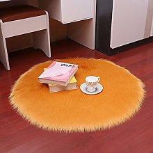 Scra AC rug Orange Plush Roundness Non-slip, Floor