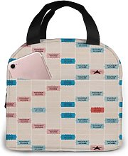 Scrabble Vintage Gameboard 93 Portable Insulated