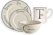 Script Kitchen Storage Tea 16 Piece Dinnerware Set