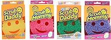 Scrub Daddy + Scrub Mommy 4 Pack Family Pack -