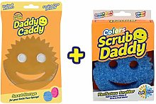 Scrub Daddy Sponge + Daddy Caddy Bundle (Blue)